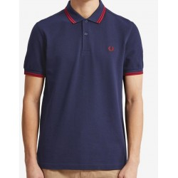 Polo Fred Perry Bleu marine et rouge