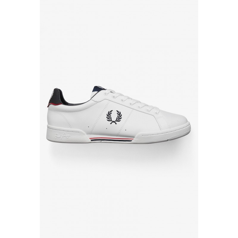 Basket Fred Perry LEATHER Blanc