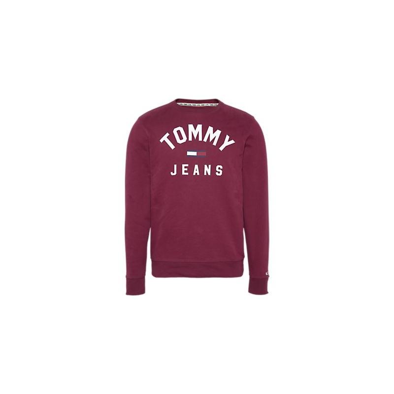 SWEAT TOMMY HILFIGER JEANS BORDEAUX DM0DM07024