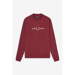 Sweat Fred Perry GRAPHIC Bordeaux M7521
