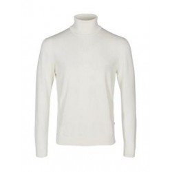 PULL COL ROULE SOLID BLANC