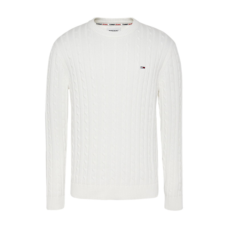 PULL TOMMY HILFIGER CABLE SWEATER ECRU
